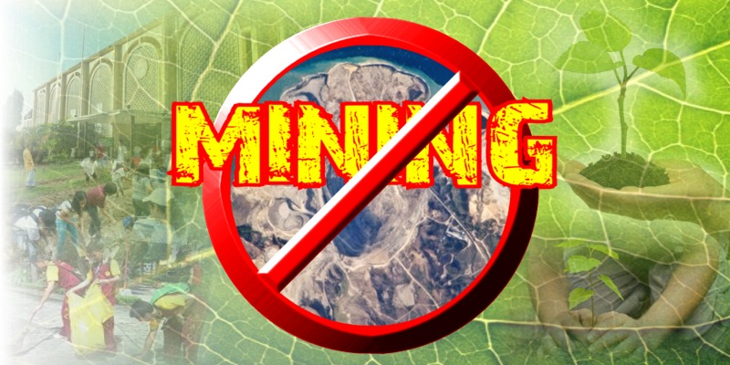 No to mining. Yes to pro-environment advocacy.